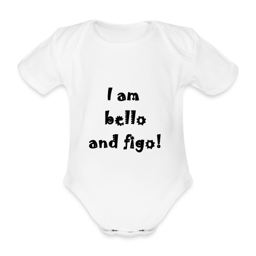 Bello and Figo - Organic Short-sleeved Baby Bodysuit