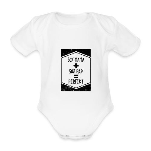 Mami Papi Mama Papa Baby Geburt Strampler süß mode - Baby Bio-Kurzarm-Body