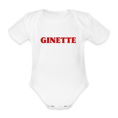 Ginette, simple, efficace... et rouge. - Body Bébé bio manches courtes