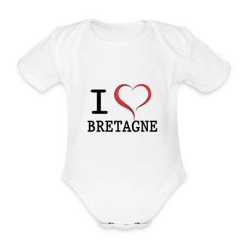 i love bretagne design - Body Bébé bio manches courtes