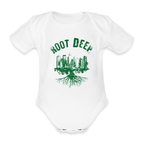 Root deep Urban grün - Baby Bio-Kurzarm-Body