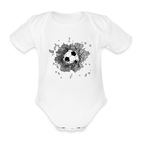 Football durch wand - Baby Bio-Kurzarm-Body