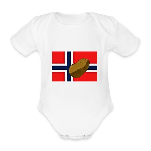 NorPot - Økologisk kortermet baby-body