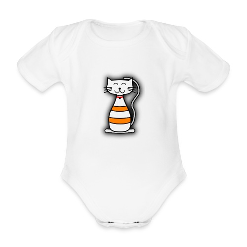 Chat raye - Body bébé bio manches courtes