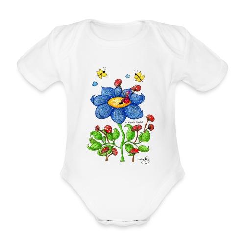 Blumenkind - Baby Bio-Kurzarm-Body
