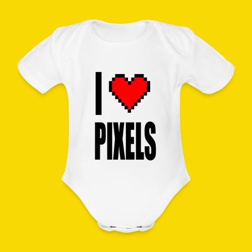 I Love Pixels - Ekologiczne body niemowlęce z krótkim rękawem