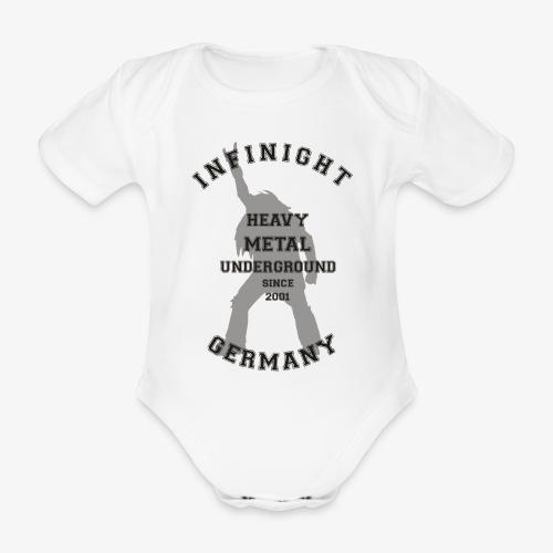Infinight College headbanger dark - Baby Bio-Kurzarm-Body