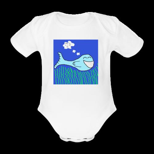 Fish Collection - Økologisk kortermet baby-body