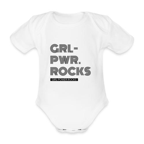 Baby Girl Power - Baby Bio-Kurzarm-Body