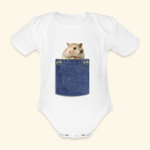 hamster in the poket - Body ecologico per neonato a manica corta