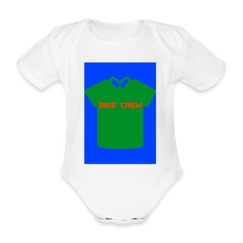 Bike Crew Merch (grün) - Baby Bio-Kurzarm-Body