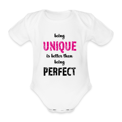 being UNIQUE - Baby Bio-Kurzarm-Body
