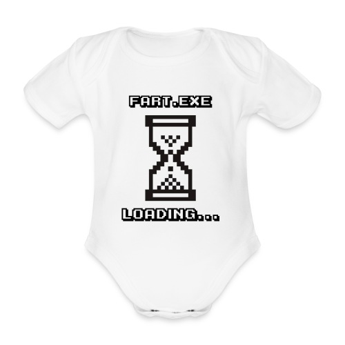 Fart Loading - Organic Short-sleeved Baby Bodysuit