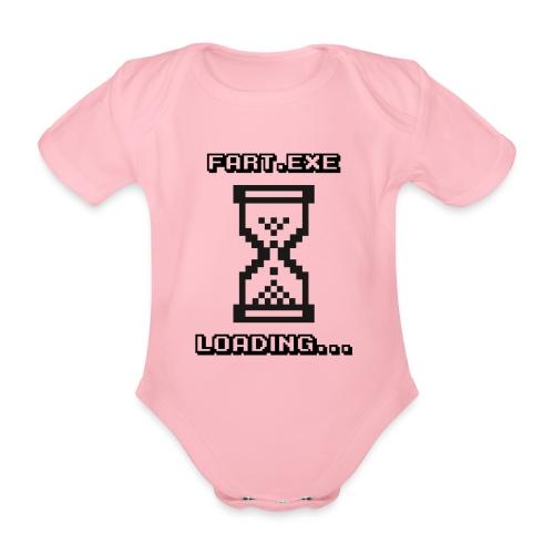 Fart Loading - Organic Short-sleeved Baby Bodysuit
