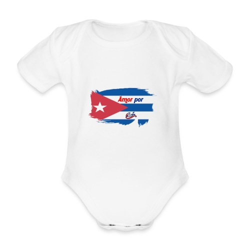 Amor Por Cuba - Body ecologico per neonato a manica corta