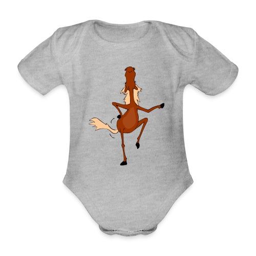 Tanzpferd - Baby Bio-Kurzarm-Body