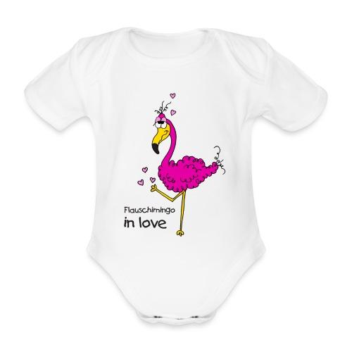 Flauschimingo in love - Baby Bio-Kurzarm-Body
