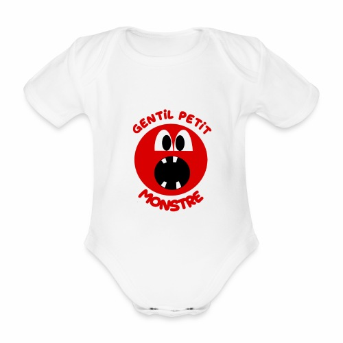 Gentil Petit Monstre - Body Bébé bio manches courtes