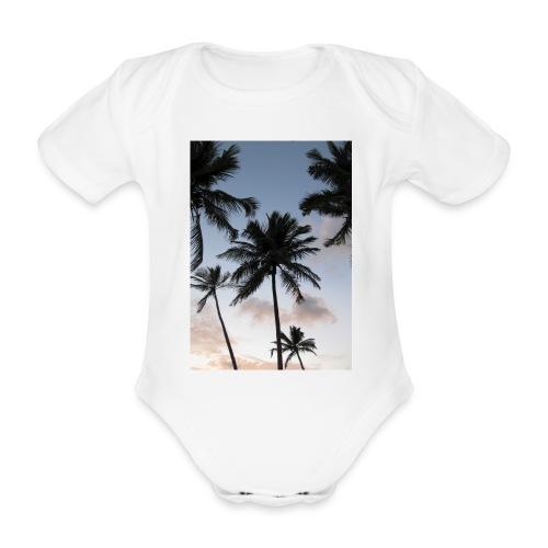 PALMTREES DOMINICAN REP. - Baby bio-rompertje met korte mouwen