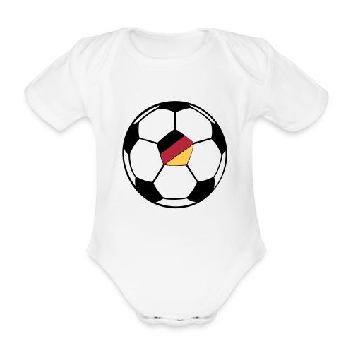 fussball deutschland - Baby Bio-Kurzarm-Body