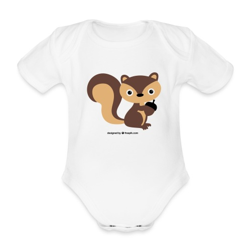 eichhörnchen - Baby Bio-Kurzarm-Body