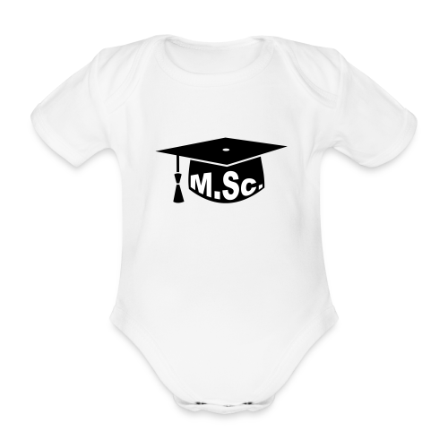Doktorhut Master of Science M.Sc Doktorarbeit - Baby Bio-Kurzarm-Body