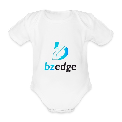BZEdge Cutting Edge Crypto - Organic Short-sleeved Baby Bodysuit