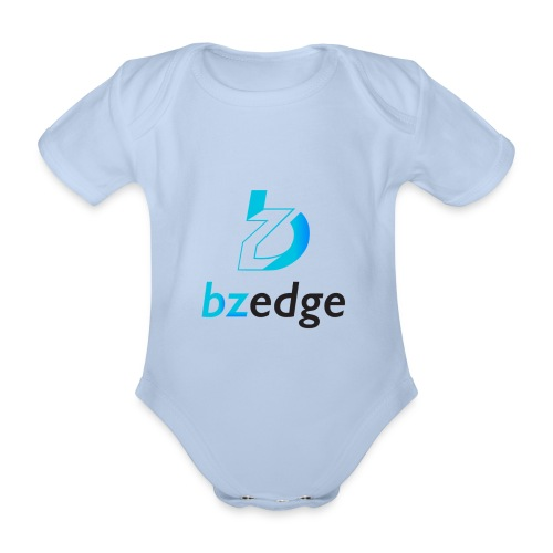BZEdge Cutting Edge Crypto - Organic Short-sleeved Baby Bodysuit
