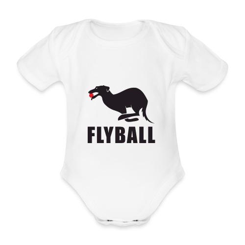 Flyball - Body orgánico de maga corta para bebé