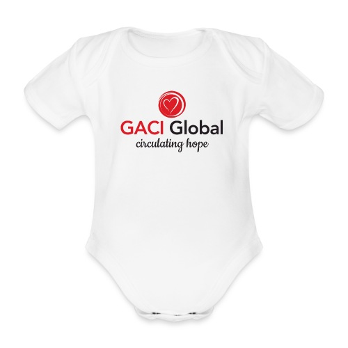 Colour Logo - Organic Short-sleeved Baby Bodysuit