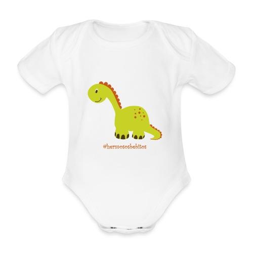 hermosos bebitos dinosaurio - Body orgánico de maga corta para bebé
