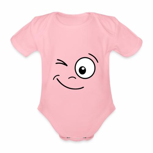 Gesicht zwinkern - Baby Bio-Kurzarm-Body