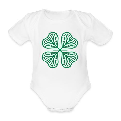 Clover - Organic Short-sleeved Baby Bodysuit