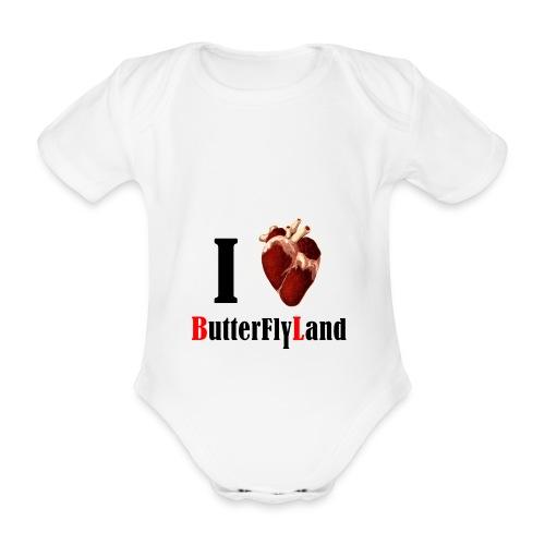 I love Butterflyland - Body bébé bio manches courtes