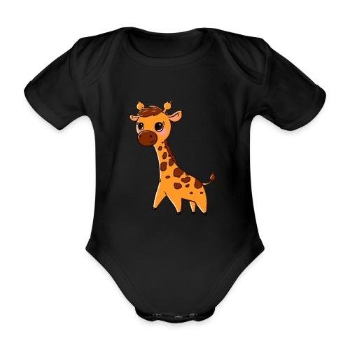Mini Giraffe - Organic Short-sleeved Baby Bodysuit