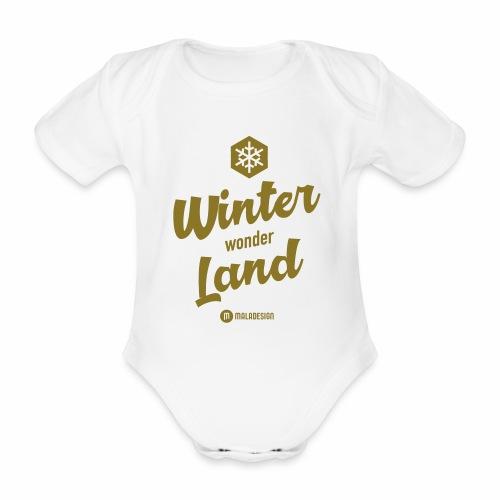 Winter Wonder Land - Vauvan lyhythihainen luomu-body