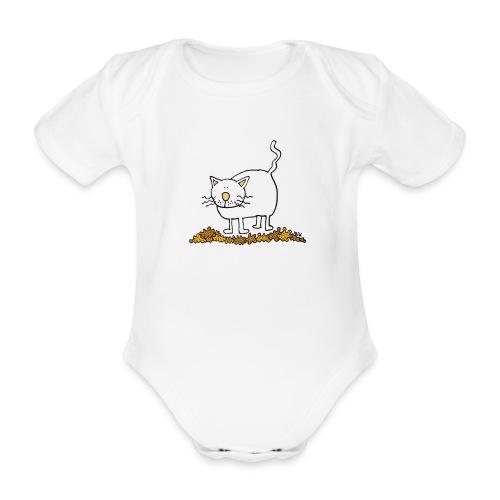 fat cat trans - Baby bio-rompertje met korte mouwen