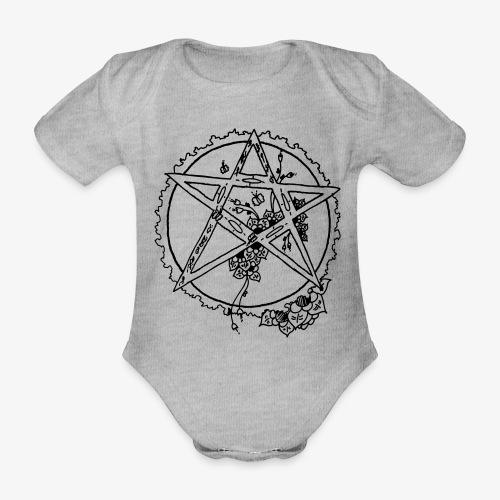 Flowergram - Organic Short-sleeved Baby Bodysuit