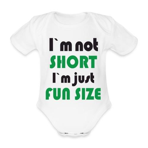 i am not short - Ekologisk kortärmad babybody