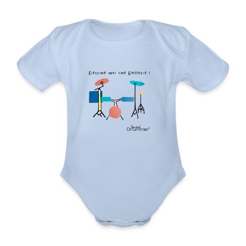 Azia Drum - Organic Short-sleeved Baby Bodysuit