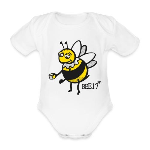 Teeny Tiny East End Bee - Organic Short-sleeved Baby Bodysuit