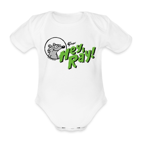 Hey Ray Logo green - Baby Bio-Kurzarm-Body