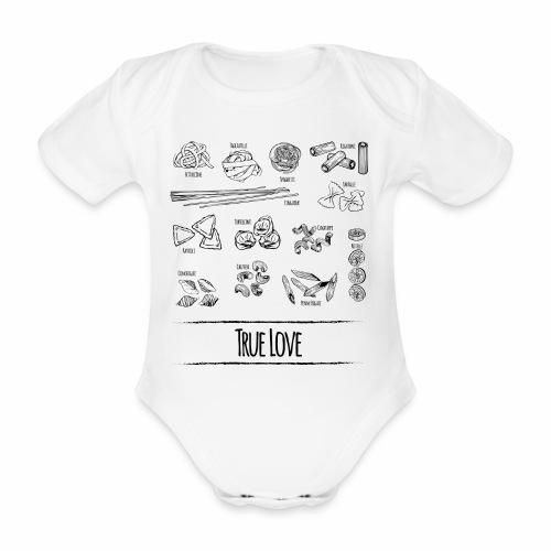 Pasta - My True Love - Baby Bio-Kurzarm-Body