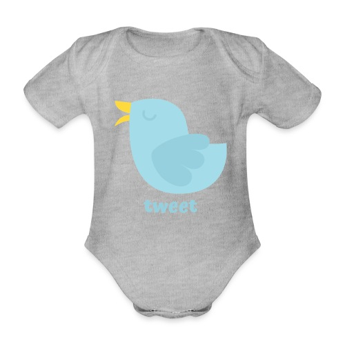 tweet - Kortærmet babybody, økologisk bomuld