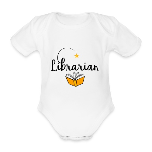 0326 Librarian & Librarian - Organic Short-sleeved Baby Bodysuit