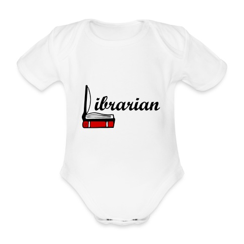 0324 Librarian Librarian Library Book - Organic Short-sleeved Baby Bodysuit