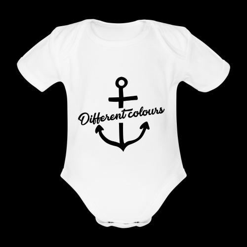 Different Colours Black Logo - Body ecologico per neonato a manica corta