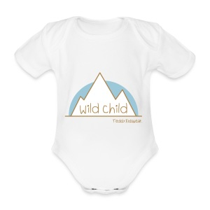Teddy.Kidswear. – wild child - Baby Bio-Kurzarm-Body