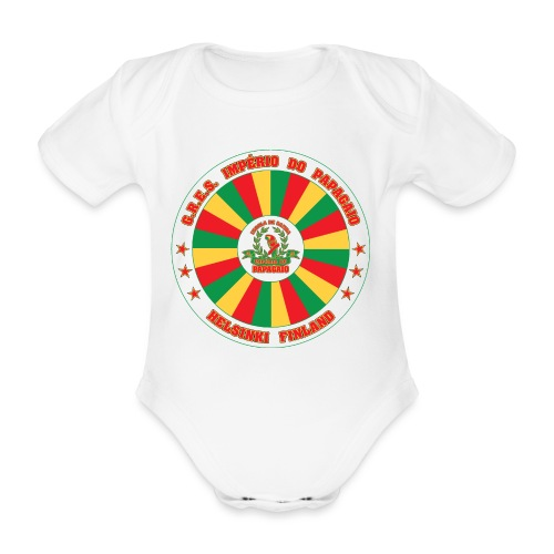 Papagaio drum logo - Vauvan lyhythihainen luomu-body
