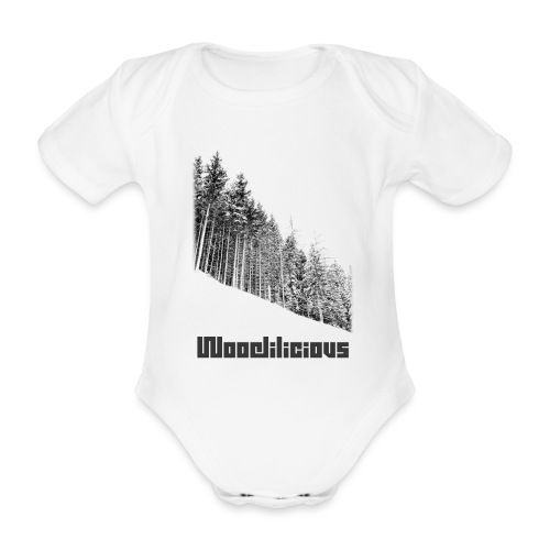 Woodilicious v1 png - Organic Short-sleeved Baby Bodysuit